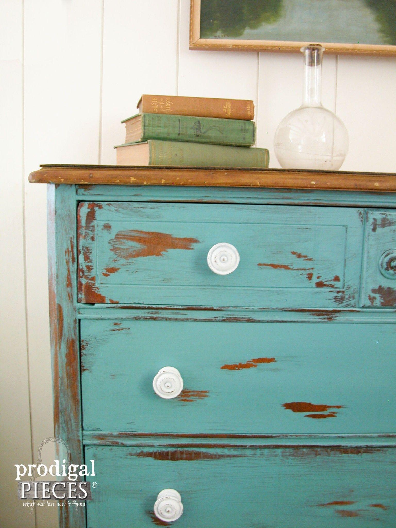 Distress paint with petroleum jelly vintage chest petroleum jelly