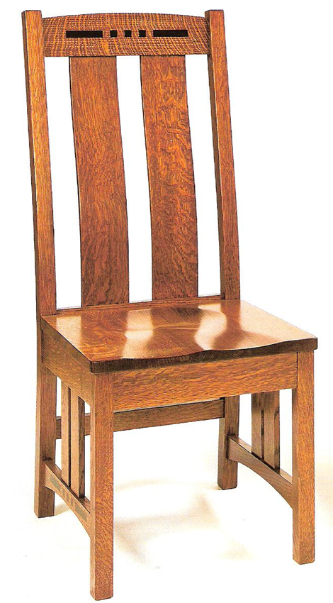 amish colebrook mission dining chair   craftsman, mission style