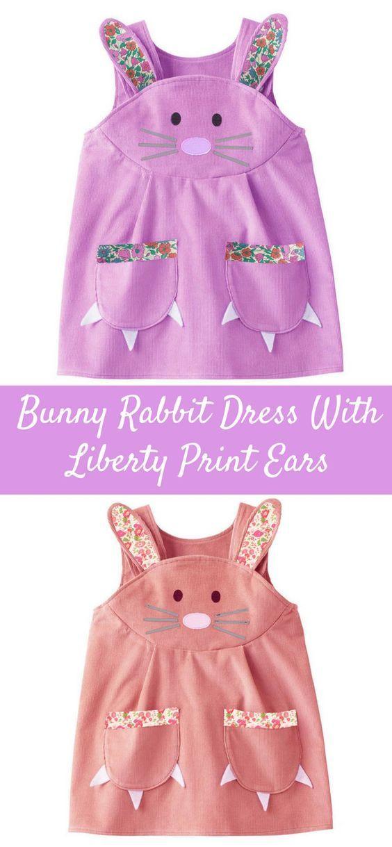 Gorgeous bunny rabbit dress with liberty print ears easter dress gorgeous bunny rabbit dress with liberty print ears easter dress easter gifts kids negle Images