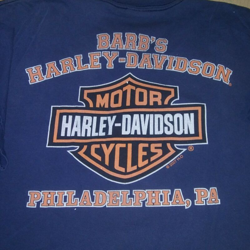aca4964551 Vintage Harley Davidson T Shirt Biker Motorcycle Eagle Men s XXL ...