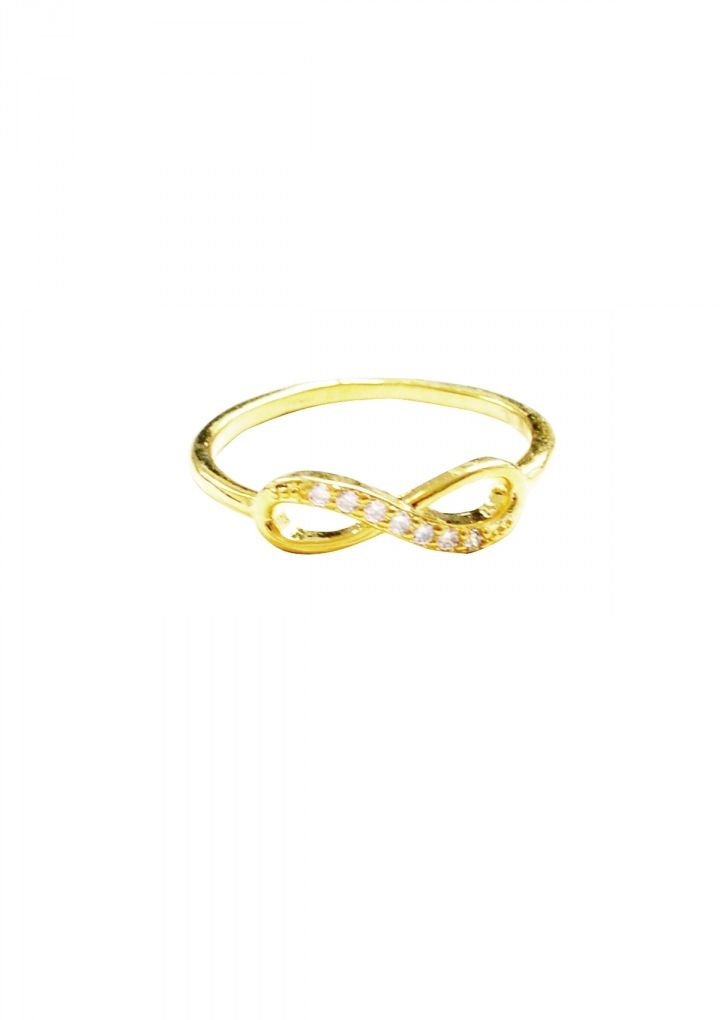 Infinity Rhinestone Embellished Ring 14,95 € #happinessbtq