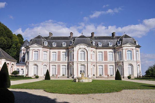 Chateau De Long En Picardie France Castle Of Long At Picardy