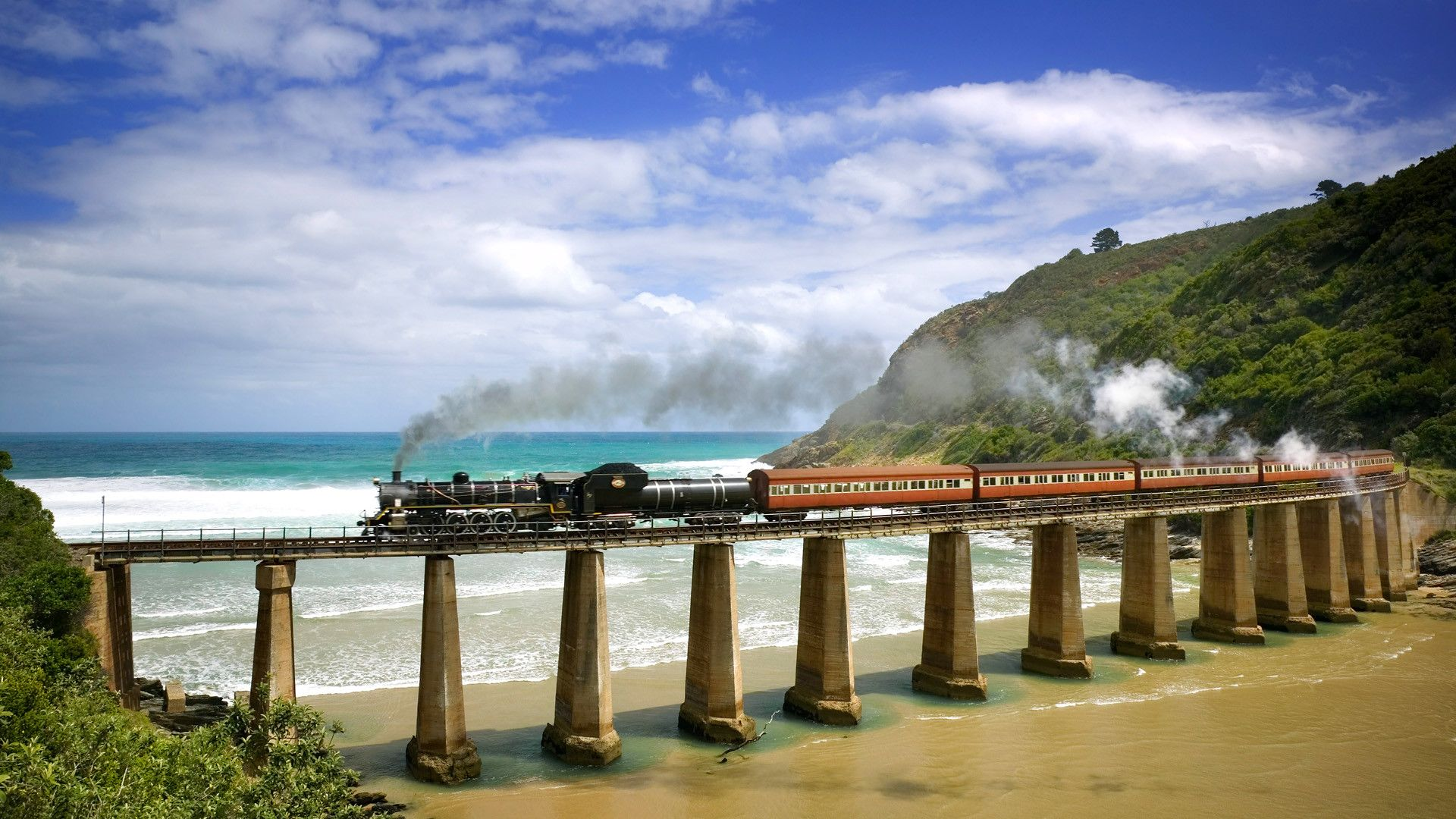 Coastal train on Kaaimans River, Western Cape, South Africa