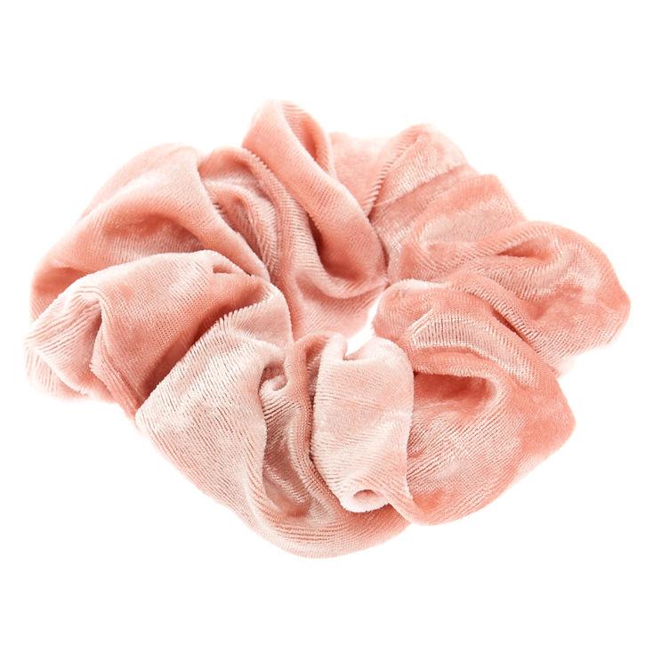 Pink velvet chouchou