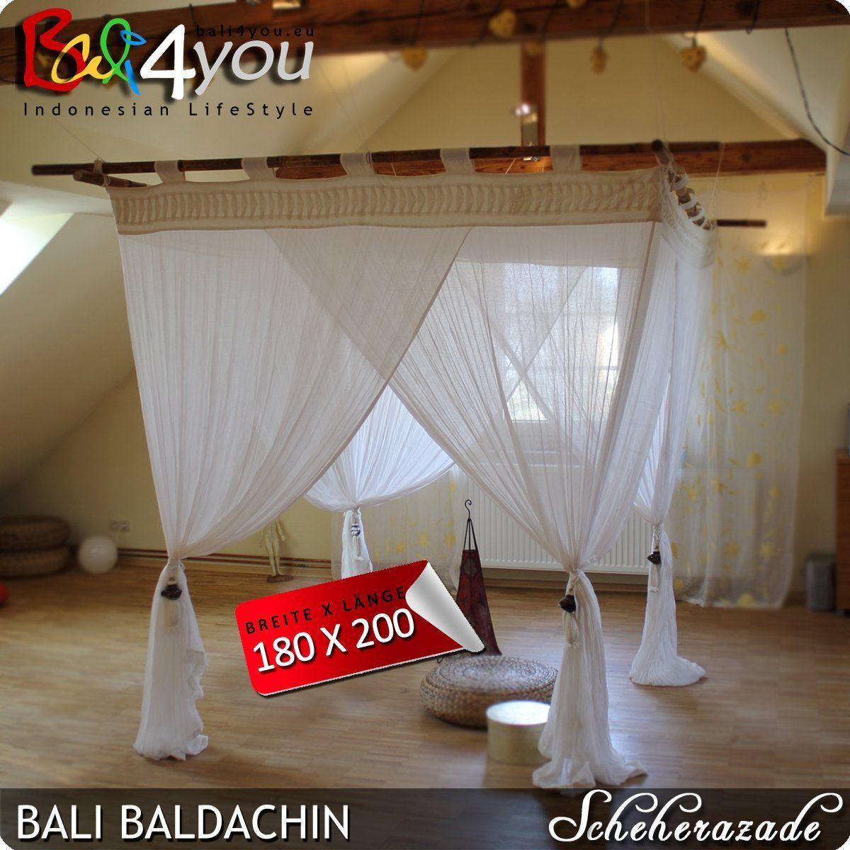 Bali Baldachin Scheherazade 180x200 Inkl 4 Quasten Betthimmel