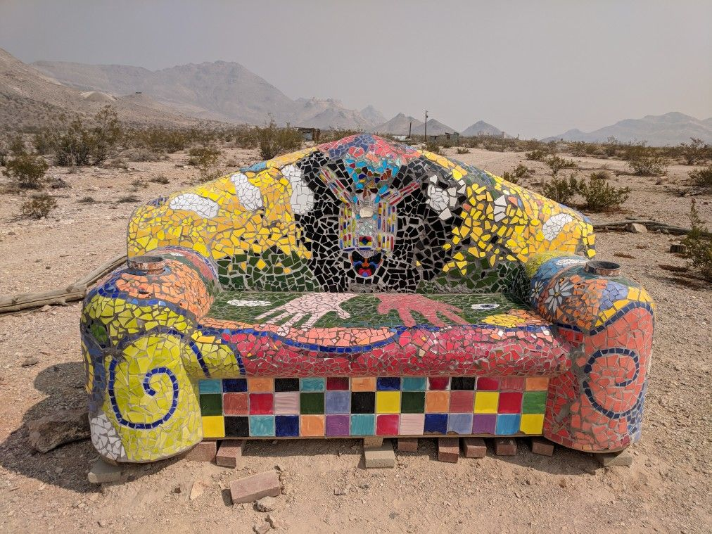 Goldwell Open Air Museum near Rhyolite, Nevada (With