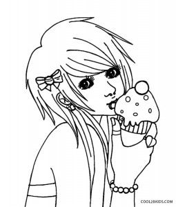 Emo Anime Coloring Pages