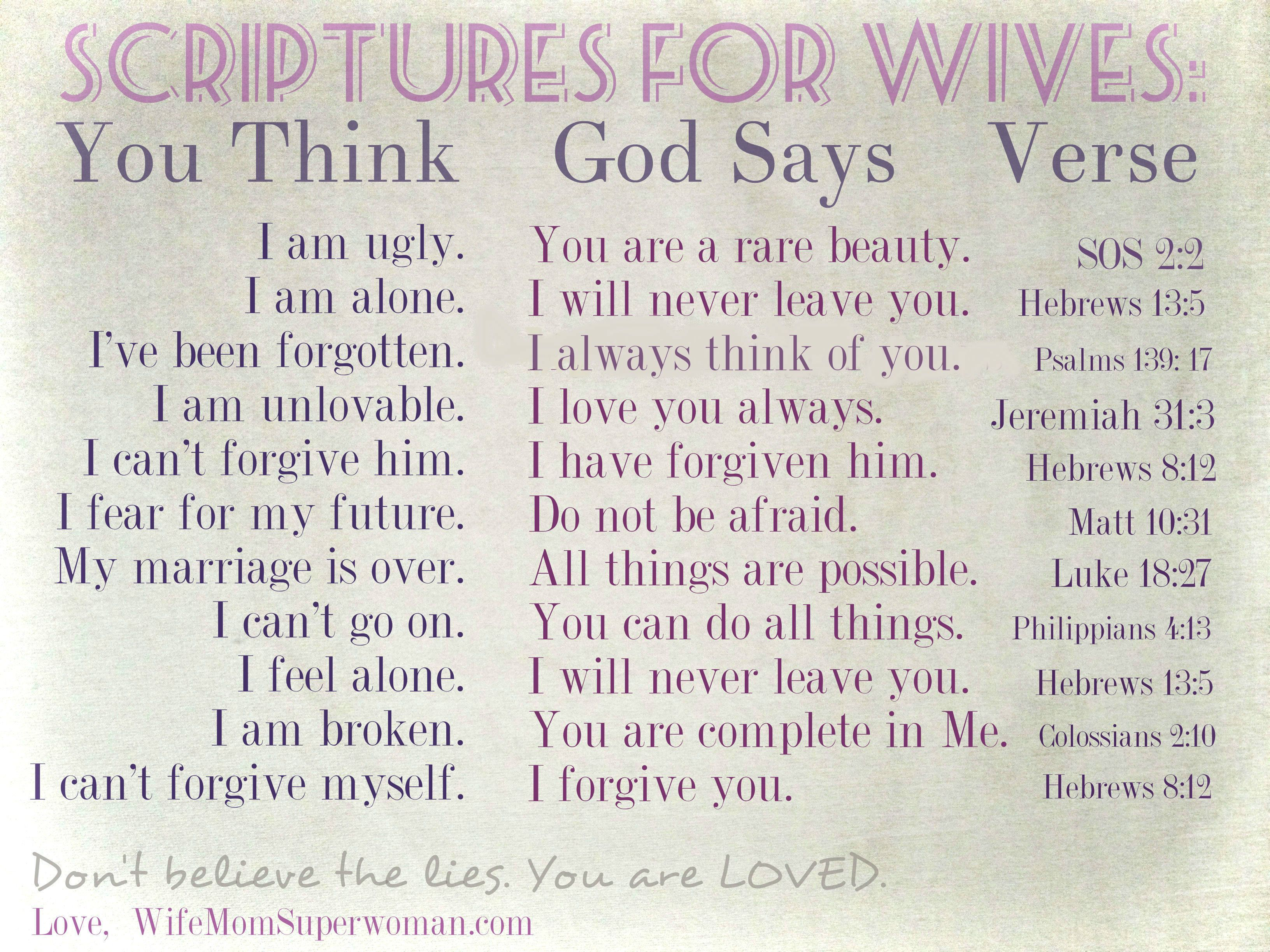 Pls repin! There are a million voices telling you WHO you are. Here's a reminder of WHOSE you are! - Scriptures for Wives: Remembering WHOSE We Are.