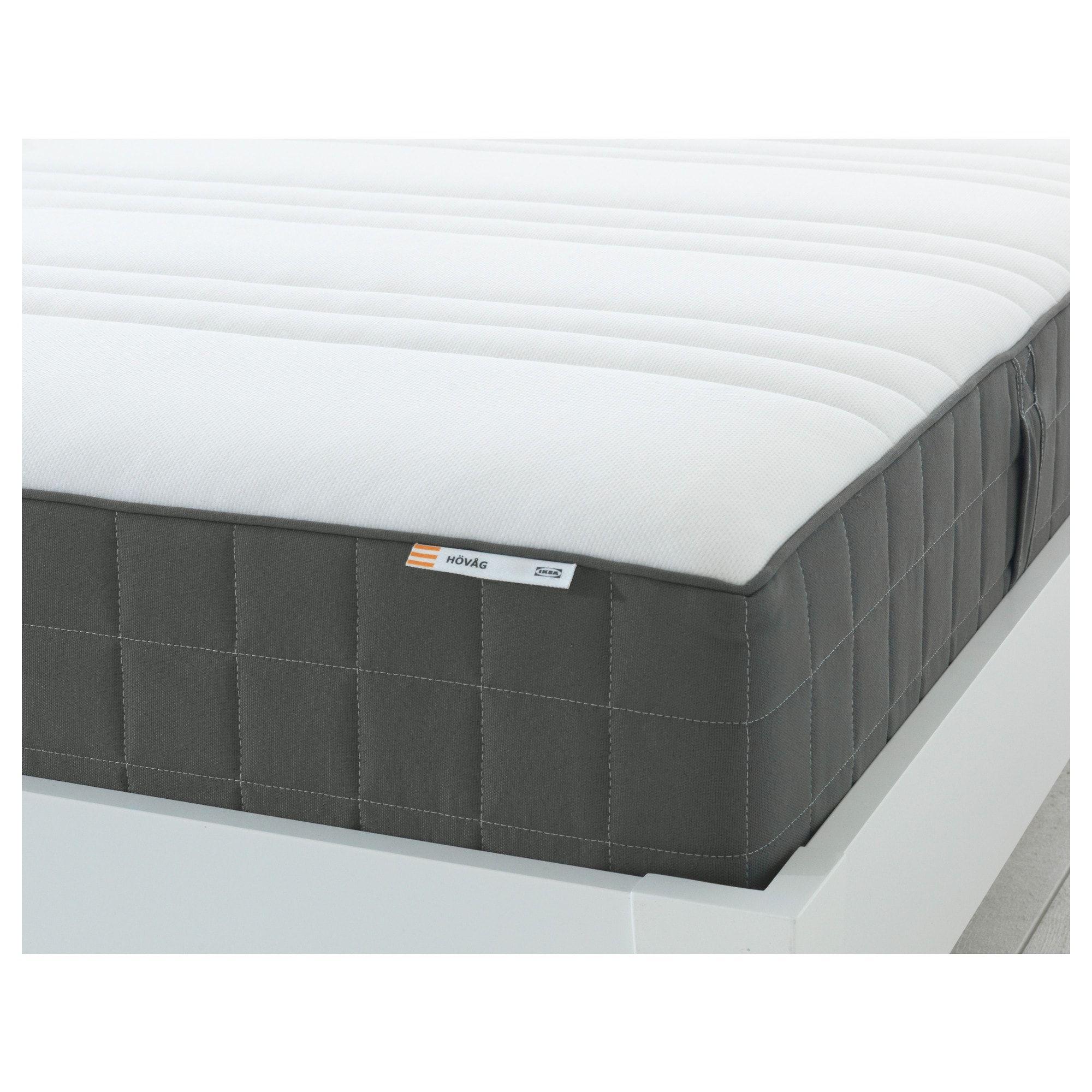 HÖVÅG Pocket sprung mattress firm, dark grey 120x190 cm