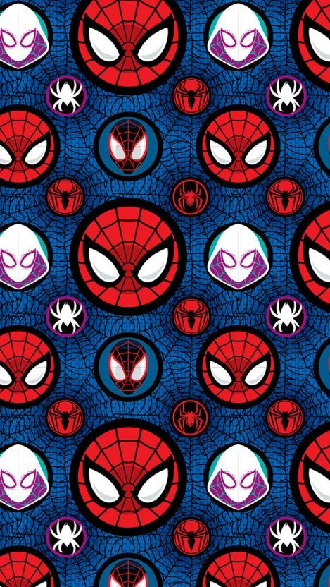 Spider Verse Pattern iPhone Wallpaper - iPhone Wallpapers