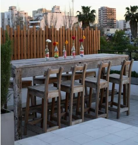 Superbe Love The Idea Of A Tall Bar W/ Chairs For The Patio!