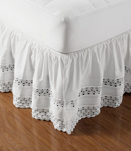 Heirloom Crocheted Bed Skirt 18 Drop Bed Skirts Free Shipping At L L Bean Bedskirt Shabby Bedroom Mattress Pad