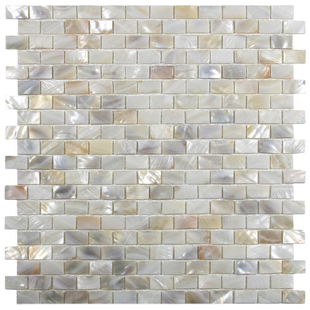 Cream brick pearl shell tile bricks shell and pearls cream brick pearl shell tile dailygadgetfo Choice Image