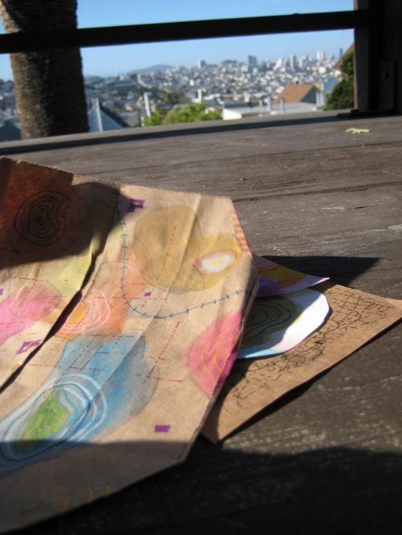 Handmade colored maps