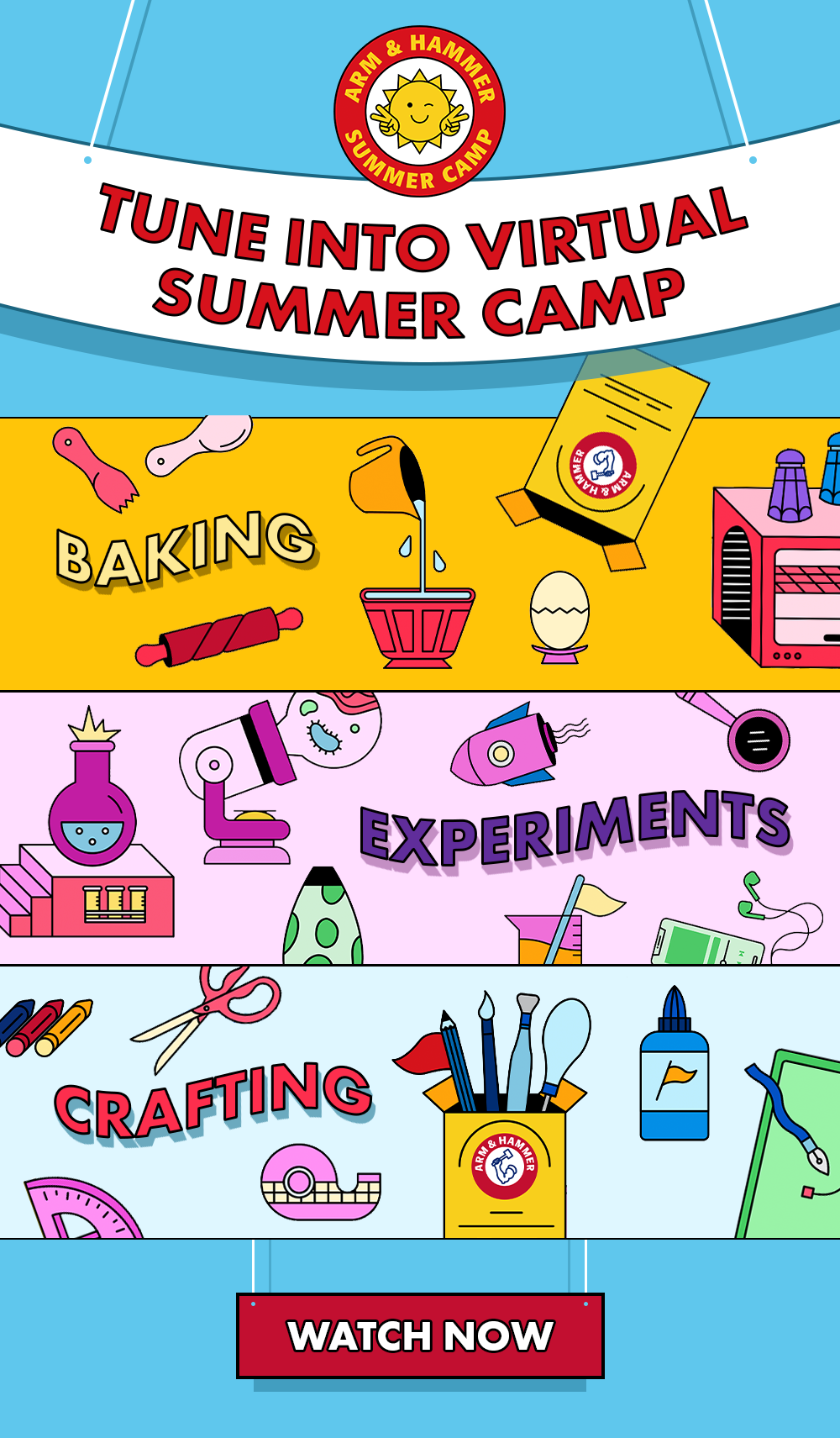 ARM & HAMMER™ Summer Camp - Free DIY Activities for Kids