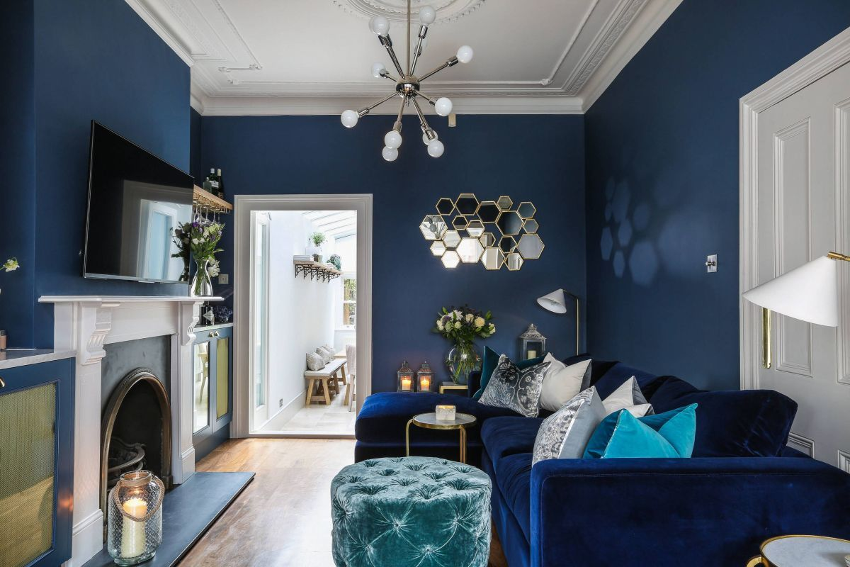 7 Blue Living Rooms Made For Relaxing  Blue walls living room