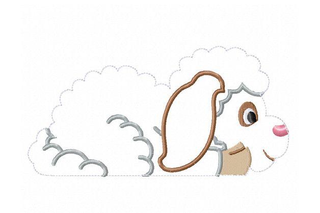 Stickmuster - Stickdatei Schaf-ITH - ein Designerstück von Carina-Boell bei DaWanda