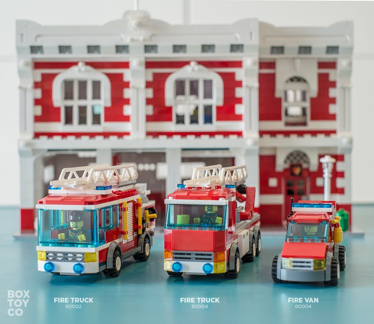Lego Fire Truck 60004 And 60002 By The Classic Lego Fire Station Moc