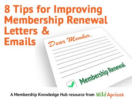 8 simple tips to improve your membership renewal letters marketing tips for improving membership renewal letters wildapricot altavistaventures Choice Image