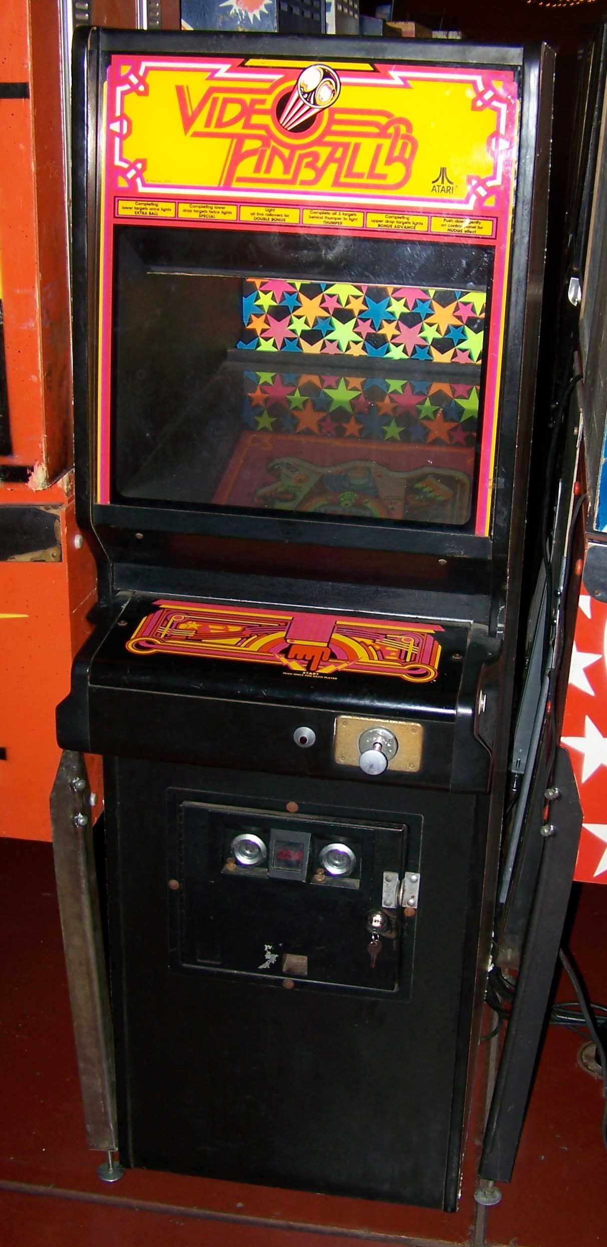 Video Pinball by Atari in 1979 - A hybrid of a video game and a pinball machine