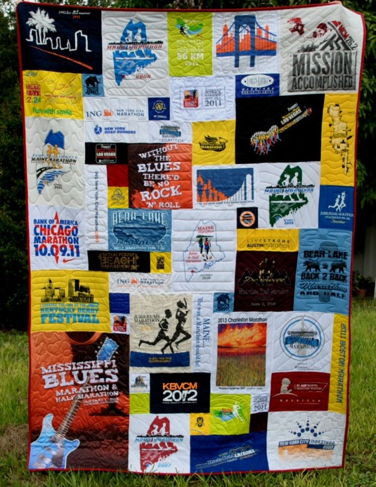 Running quilt made by Too Cool T-Shirt Quilts of Clearwater ... : running t shirt quilt - Adamdwight.com