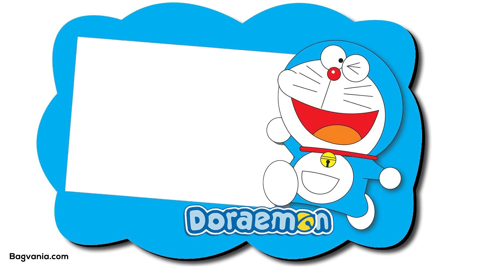 Free Printable Doraemon Birthday Invitations | Doraemon, Gambar, Kartu