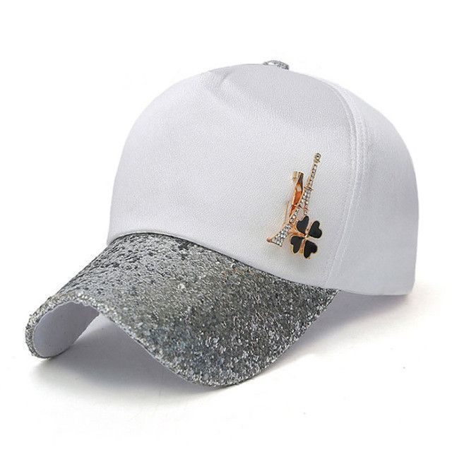 [AETRENDS] 2017 Summer Women Baesball Caps Fashion Hat with Sequins Accessories Z-5338