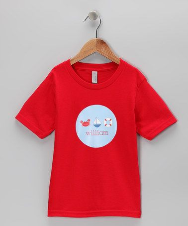 Another great find on #zulily! Red Nautical Personalized Tee - Kids by Lima Bean Kids #zulilyfinds