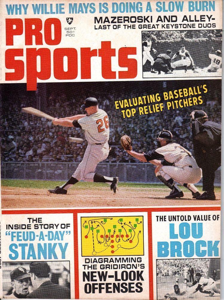 Details about 1968 Pro Sports Baseball Magazine Boog