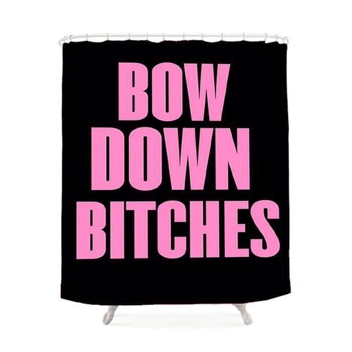 Bow Down Beyonce Inspired Shower Curtain