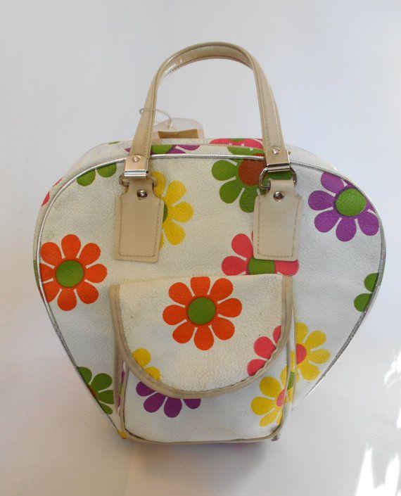 f06f0800ac Vintage Mod Flower Power 70s Bowling Bag Rare by AuntysTeeks ...