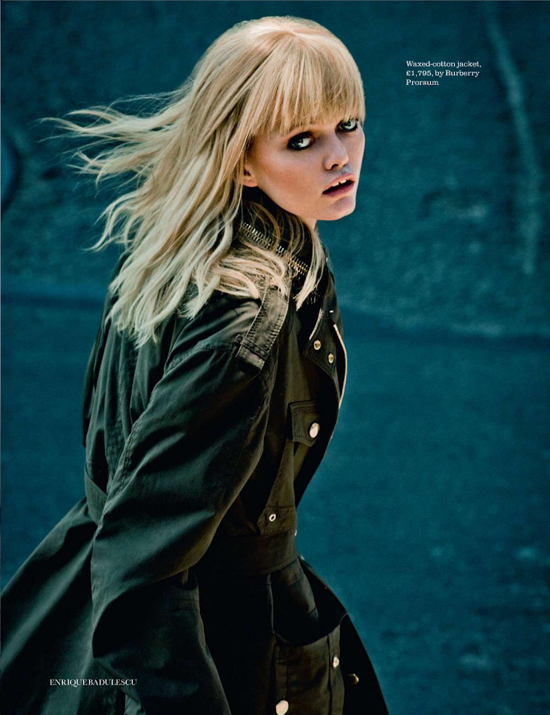 'Call of Duty' Jennifer Pugh by Enrique Badulescu for UK Elle October 2012
