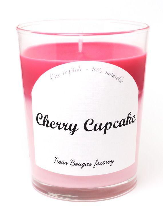 Bougie Parfumee Cherry Cupcake Nour Bougies Factory Accessoires
