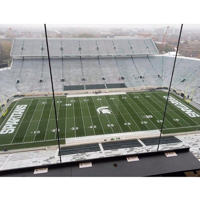 It S Quiet Now But Spartan Stadium Is Going To Be Rocking At 3 30 Beatmichiga Michigan State Football Michigan State Spartans Football Msu Spartans Football