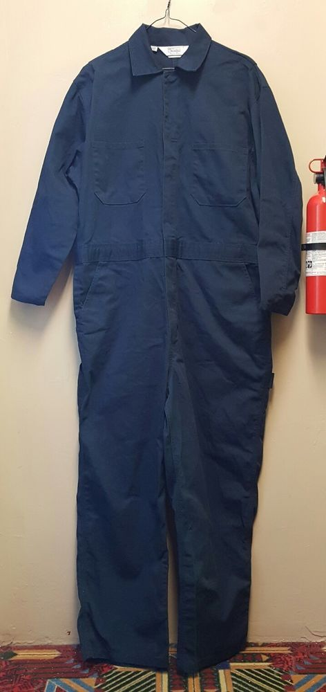 walls mens large short blue jumpsuit mechanic hunting on walls hunting coveralls id=11138
