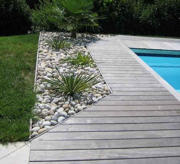 terrasse piscine bois ou pierre | Piscine | Pool im garten ...