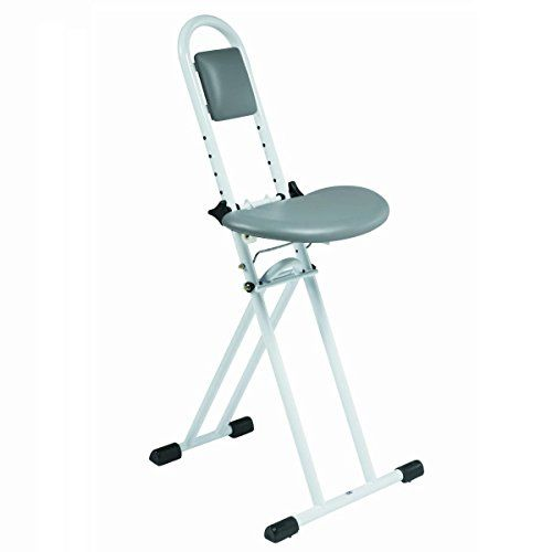 Super Folding Perching Ironing Stool With Padded Adjustable Gmtry Best Dining Table And Chair Ideas Images Gmtryco