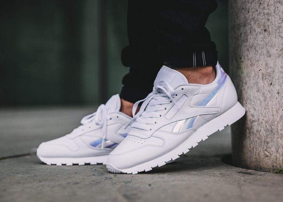 reebok classic leather white femme