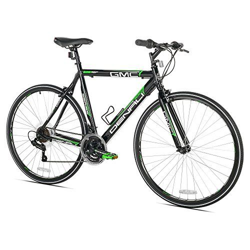 Gmc Denali Flat Bar Road Bike 700c Black Green Small 48cm Frame Flat Bar Road Bike Road Bike Gmc Denali