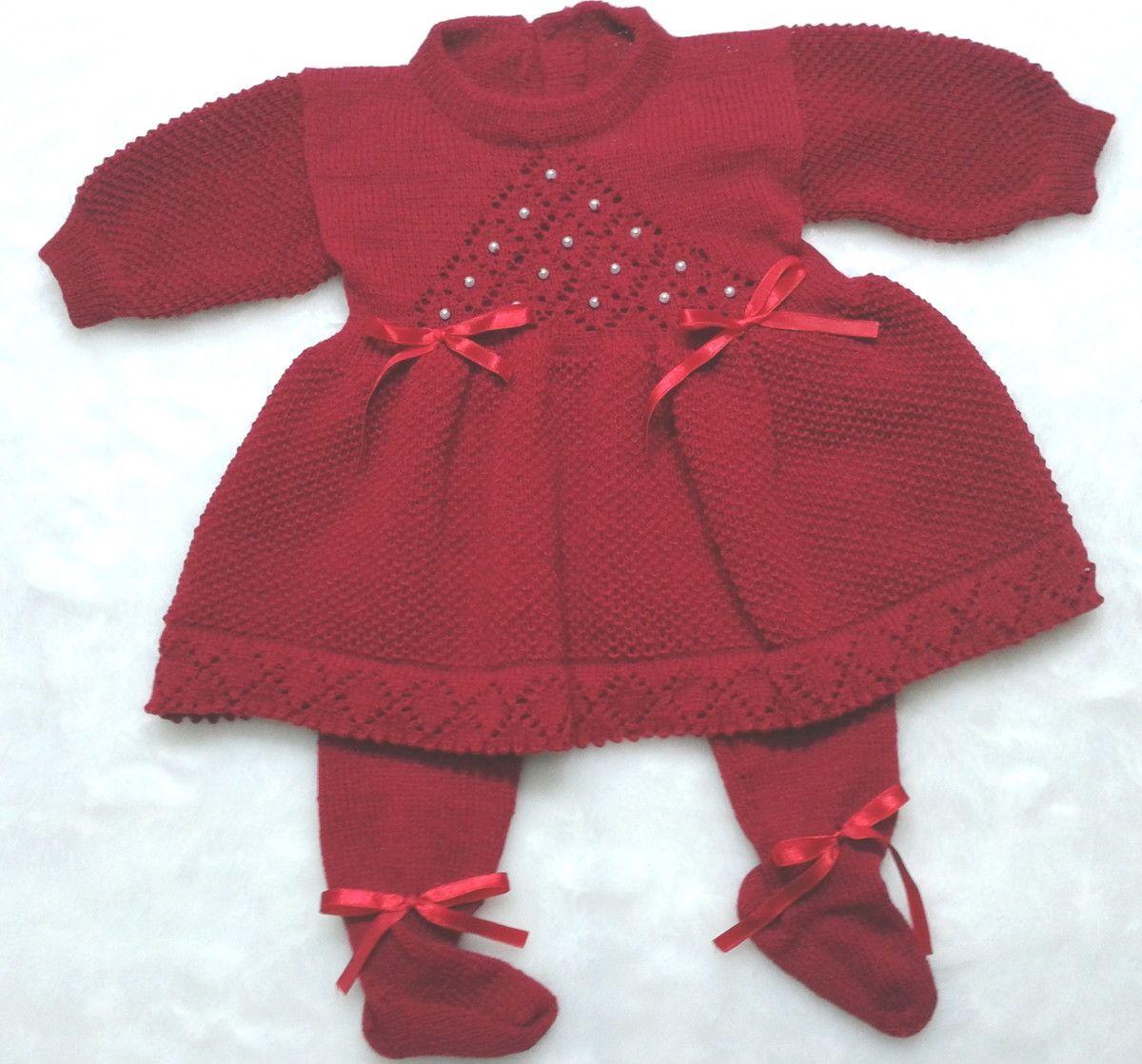 ee77127aea Saída Maternidade Batizado Vestido Calça