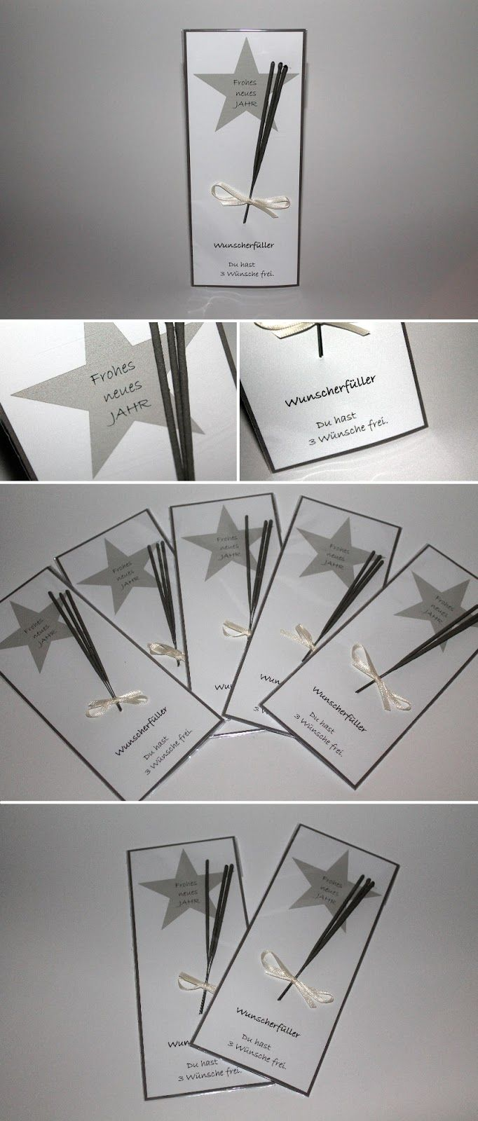 DIY Silvestergeschenk Wunscherfüller Wunderkerzen einfach selber machen #diyundselbermachen