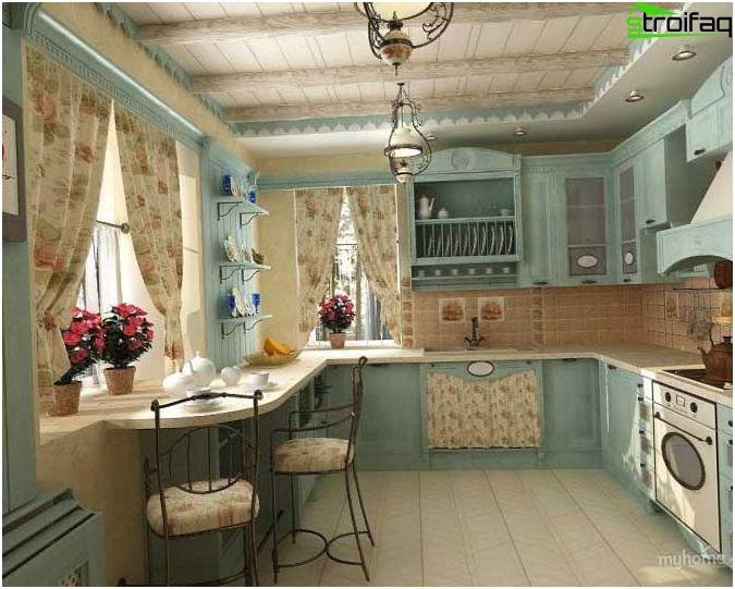 Cortinas para la cocina - los mejores ejemplos de diseño de cortinas ...