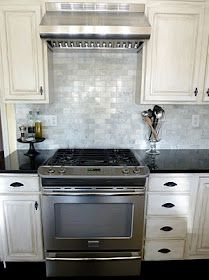 Lowes Venatino 2x4 Marble Backslash White Tile Kitchen