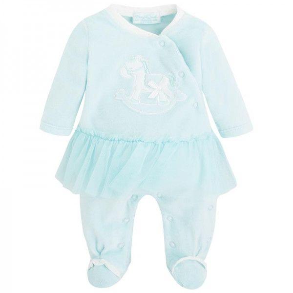 Mayoral Baby Aqua Pajamas with Tutu