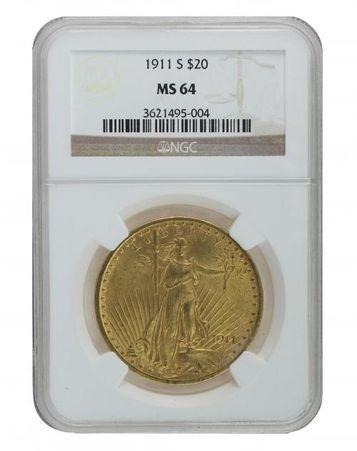 1911-S NGC MS64 Saint Gaudens $2210.00