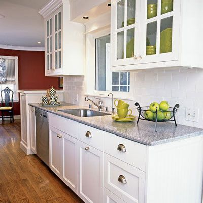 white kitchen cabinets gray countertops. classic  white kitchen cabinets with gray marble countertops and glass panes in the upper cabinet grey countertop kitchens Pinterest Classic