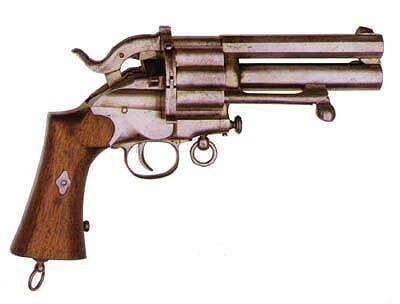 lafaucheux 20 round double barrel revolver | Weaponry | Pinterest | Double barrel, Revolvers and ...