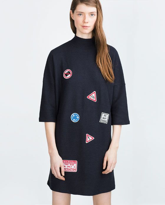 Image 2 of PATCH DRESS from Zara