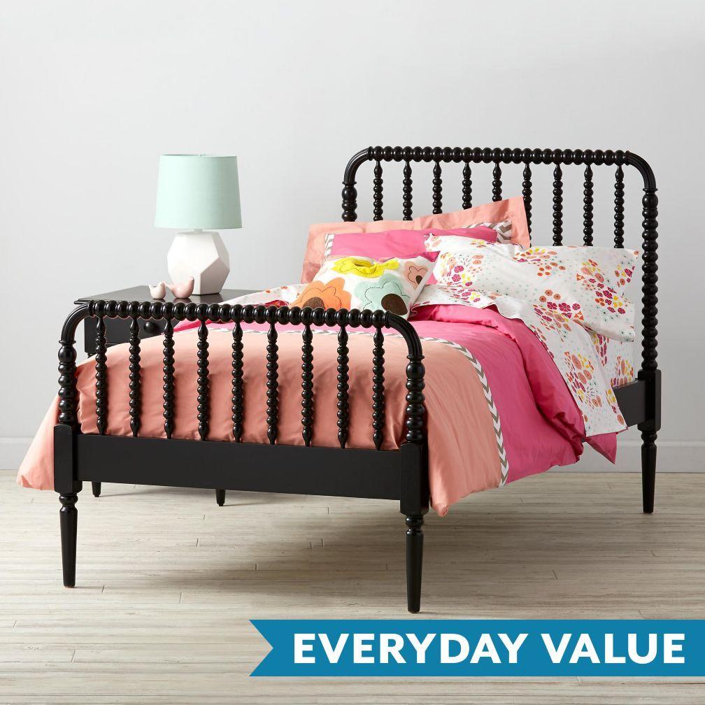 Jenny Lind Kids Bed Black Crate And Barrel Black Bedding