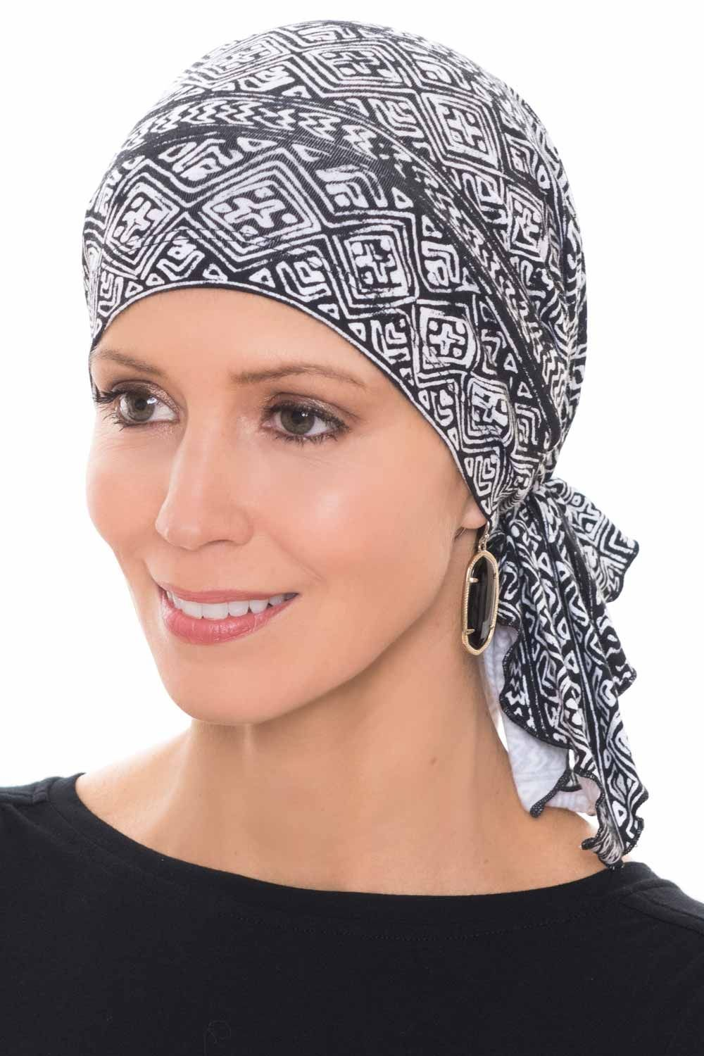 Slip On Slinky Headwrap Pre-Tied Head Scarf | Pinterest